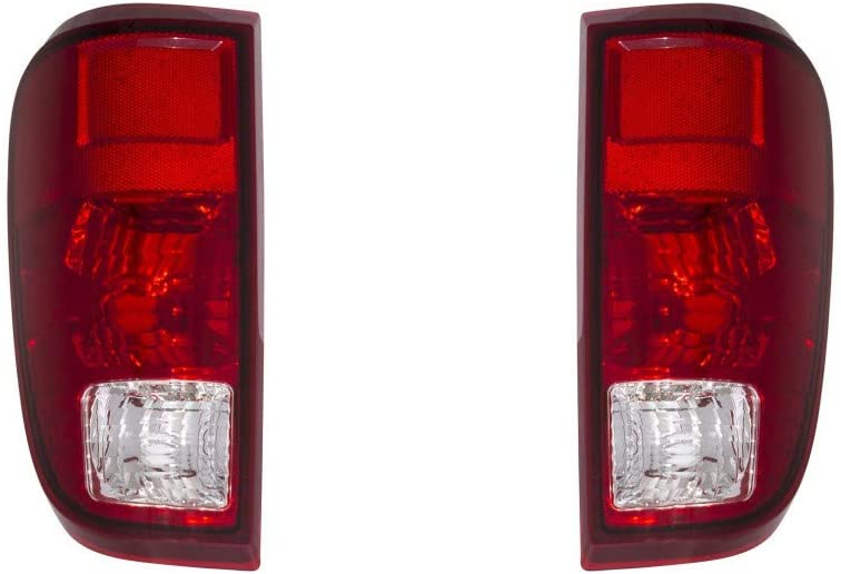 For 2008-2016 Ford F-250 Super Duty Pair Rear Tail Lights Driver and Passenger Side Assembly Unit FO2800208 FO2801208 - replaces 7C3Z 13405A 7C3Z 13404A