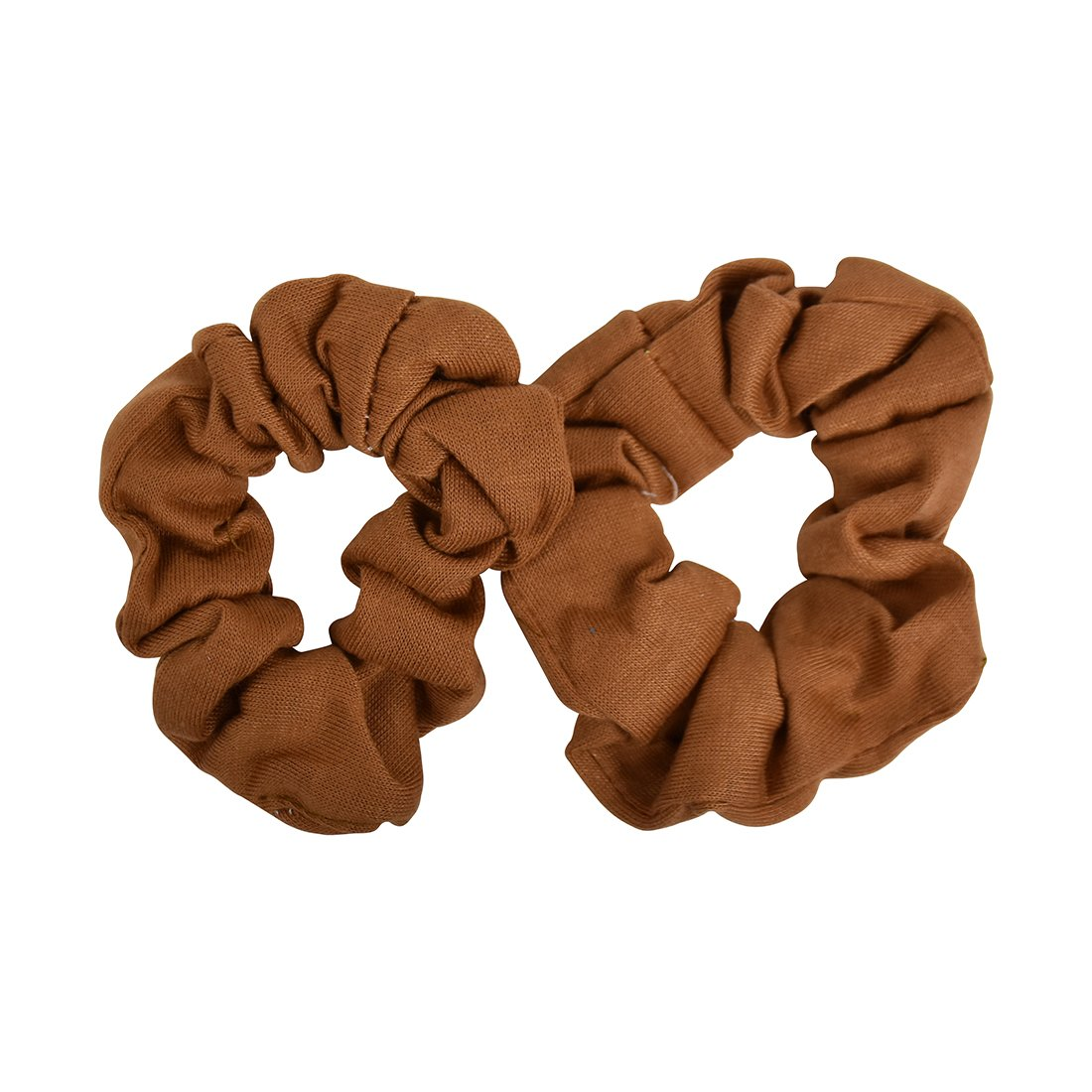 Set of 2 Solid Scrunchies - Camel