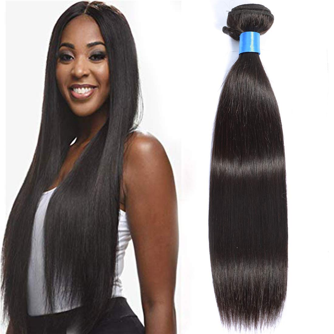 Cranberry Hair Brazilian Virgin Human Hair Straight Hair One Bundle Unprocessed Brazilian Virgin Human Hair Bundle Weave Extension Natural Black Color 28inch