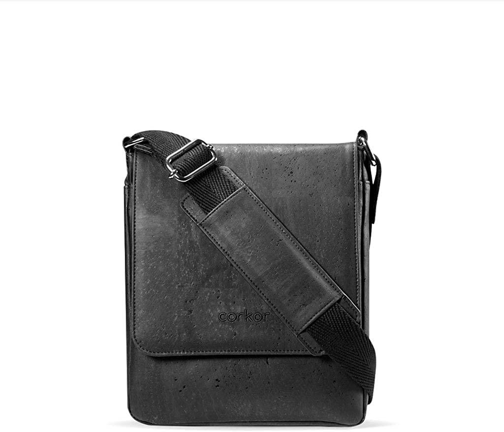 Corkor Messenger Laptop Bag 13 for Men | Vegan Cork | Crossbody Strap