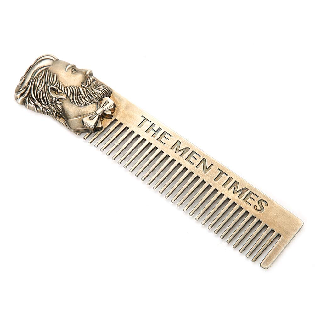 Mustache Hair Comb, Beard Straightener Comb, Metal Beard Combs For Men Beard Comb For Men, Wood Beard Comb for All Types Of Beard Or Mustache for people for boy for men