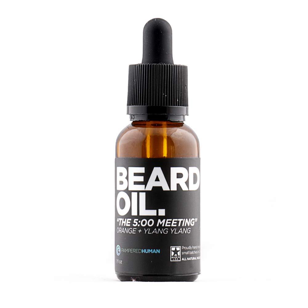 Beard Oil for Men - The 5 O'Clock Meeting - Natural Orange + Ylang Ylang (1 oz)