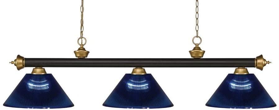 Z-Lite 200-3BRZ+SG-ARDB 3 Billiard Light, Bronze + Satin Gold