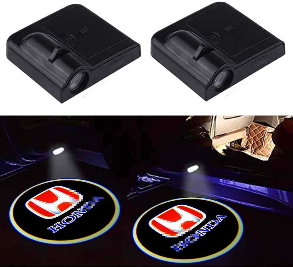 2Pcs Honda Door Lights Logo, Honda Car Door Led Projector Lights Ghost Shadow Lights Fit Most Honda Models