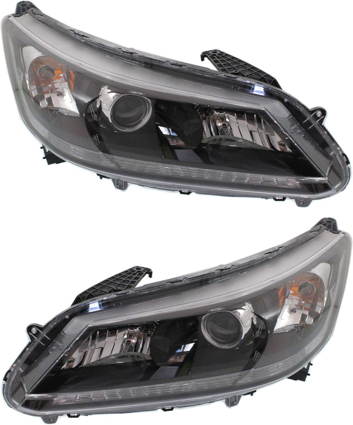 Headlight Assembly Compatible with 2013-2015 Honda Accord Halogen 4Cyl EX/EX-L/LX/Sport Models Sedan Passenger and Driver Side