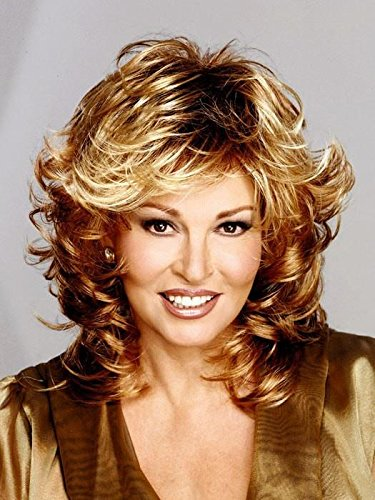 Tress Wig Color R29S+ GLAZED STRAWBERRY - Raquel Welch Wigs Mid Length Shag Capless Wavy Layers Synthetic Women's Memory Cap Base