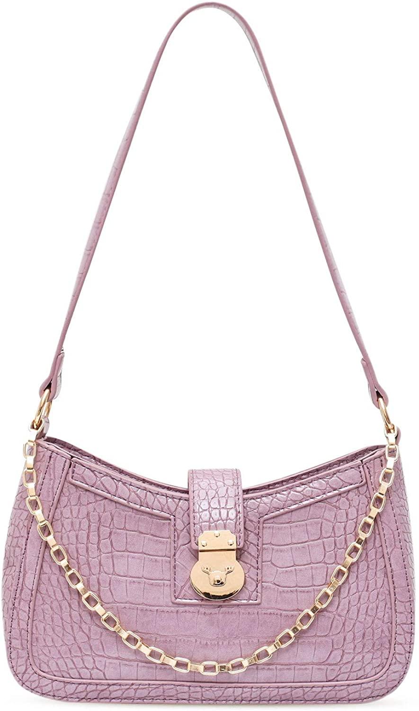 Women Shoulder Bag Crocodile Pattern Luxury Chic Chain Bag with Zipper