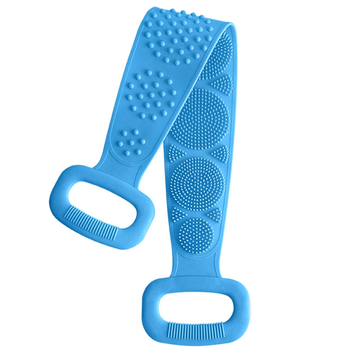 Silicone Bath Body Brush, Exfoliating Silicone Bath Shower Body Brush,Anti Mold Anti Bactria Non Toxic,Easy to Clean, Lathers Well, Eco Friendly, Long Lasting,for Women Men Kids and Baby(Blue)
