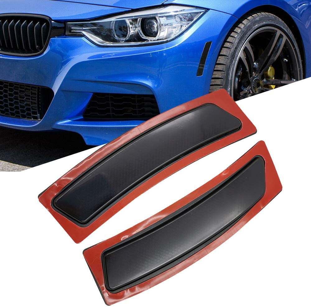GSRECY Front Bumper Reflector Side Marker Lights For BMW F30 3 Series F32 F33 F36 4-Series (Smoke Lens)