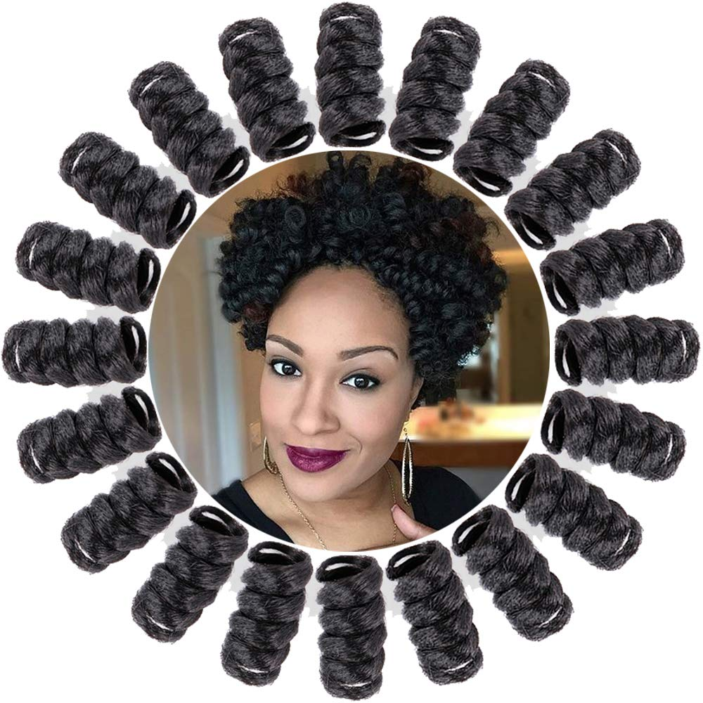 BECUS 3 Pack 10inches 16mm Natural Black Kenzie Curl Crochet Braids for Black Women 20 Roots/Pack Bouncy Twist Curly Braiding Synthetic Hair Extensions #1B