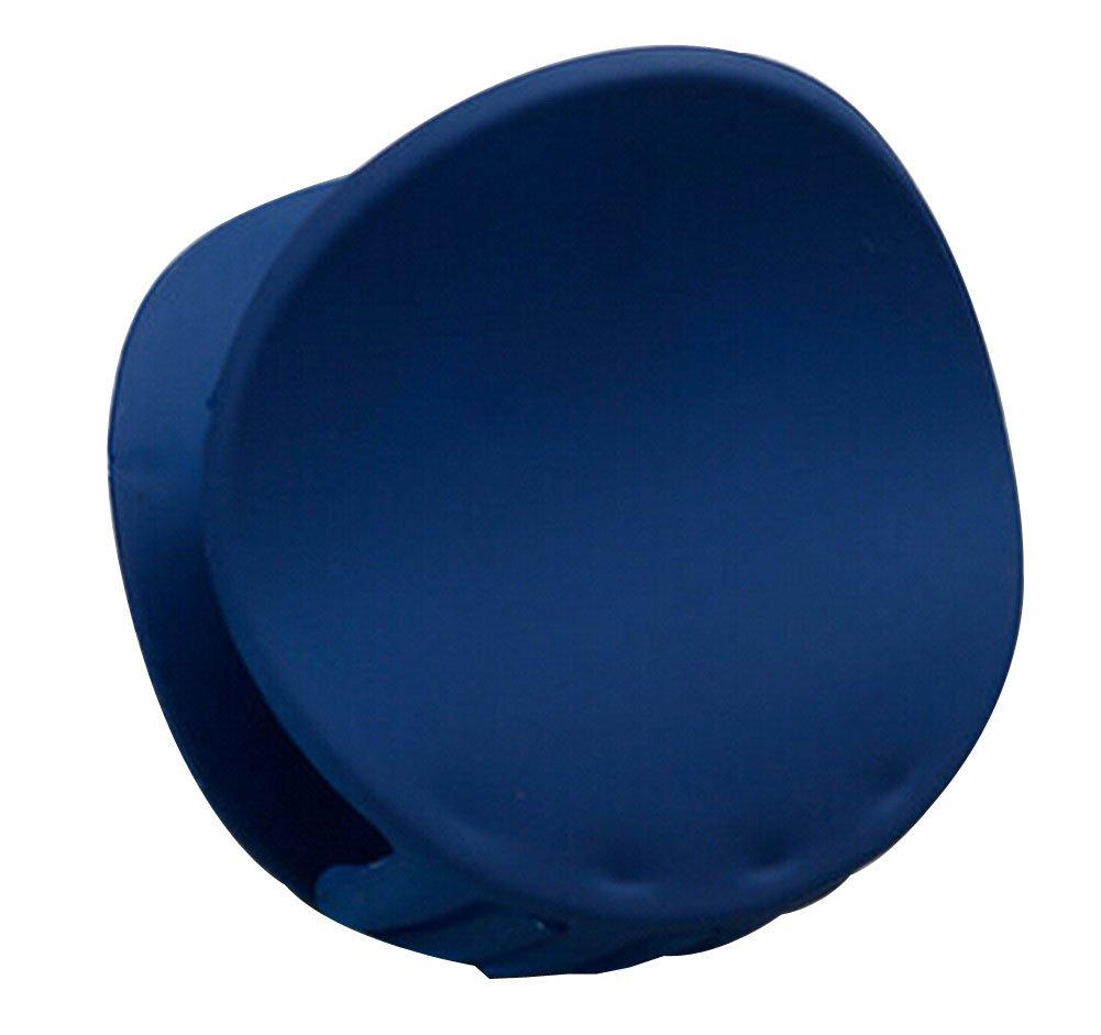 Plain Claw Clips Shining Hair Claw Elegant Hair Clips Round [Blue]