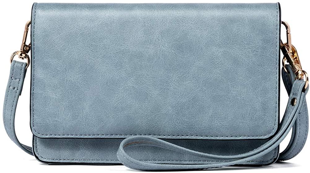 BROMEN Crossbody Bags for Women Small Cell Phone Shoulder Bag Wristlet Wallet Clutch Purse