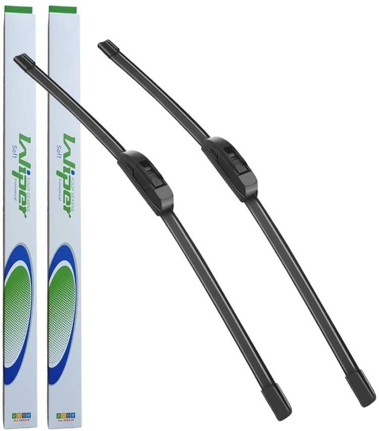 YXPCARS 24 + 14 OEM Quality Windshield Wiper Blades Bracketless J-Hook For Fiat 500, Hyundai Tucson, Nissan Versa, Subaru Impreza