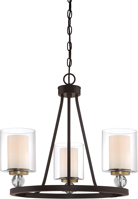 Minka Lavery Chandelier Pendant Lighting 3077-416 Studio 5 Dining Room Fixture, 3-Light 300 Watts, Painted Bronze