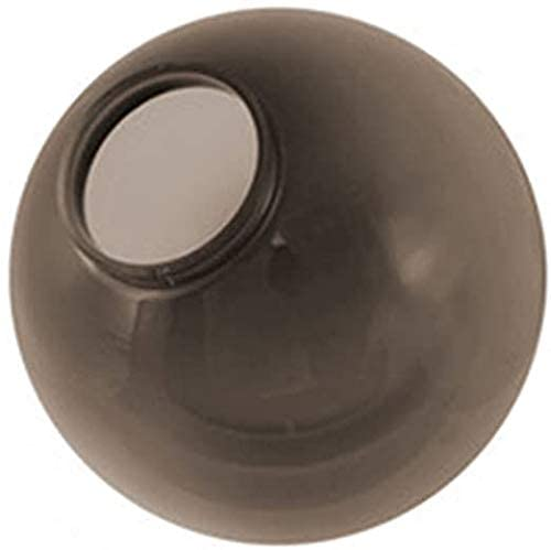 KastLite 6 Bronze Acrylic Lamp Post Globe Smooth Textured with 3.14 Screw Neck | Manufactured by Crown Plastics