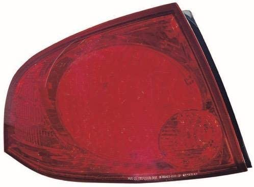 Go-Parts - for 2004 - 2006 Nissan Sentra Rear Tail Light Lamp Assembly / Lens / Cover - Right (Passenger) Side - (Base Model + S) 26550-6Z525 NI2801159 Replacement 2005