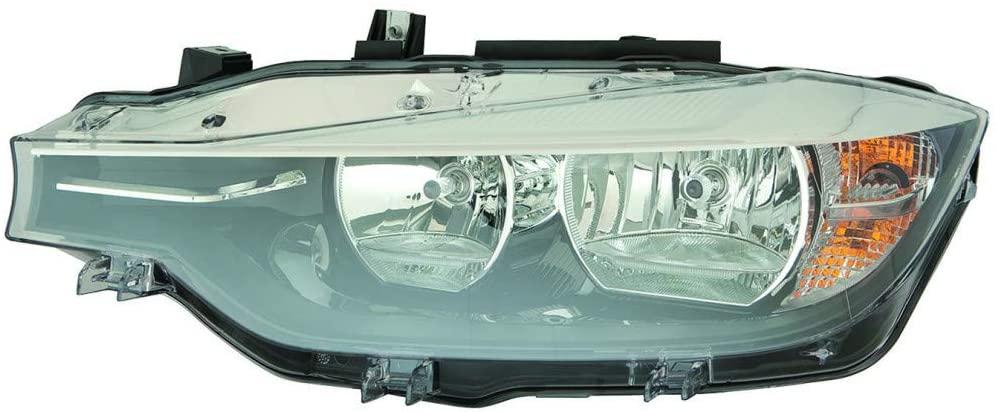 For BMW 320i / 328d / 328d xDrive / 328i / 328i xDrive / 340i Headlight Assembly 2016 2017 2018 Halogen w/o Logo Driver Side For BM2518166 | 63 11 7 365 599