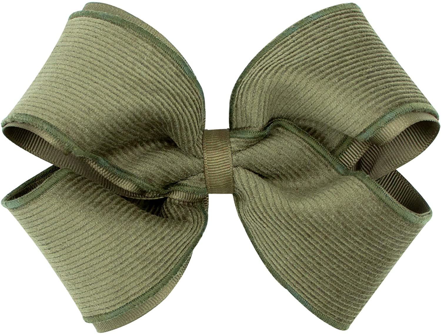 Wee Ones Girl's Small Corduroy Overlay Hair Bow