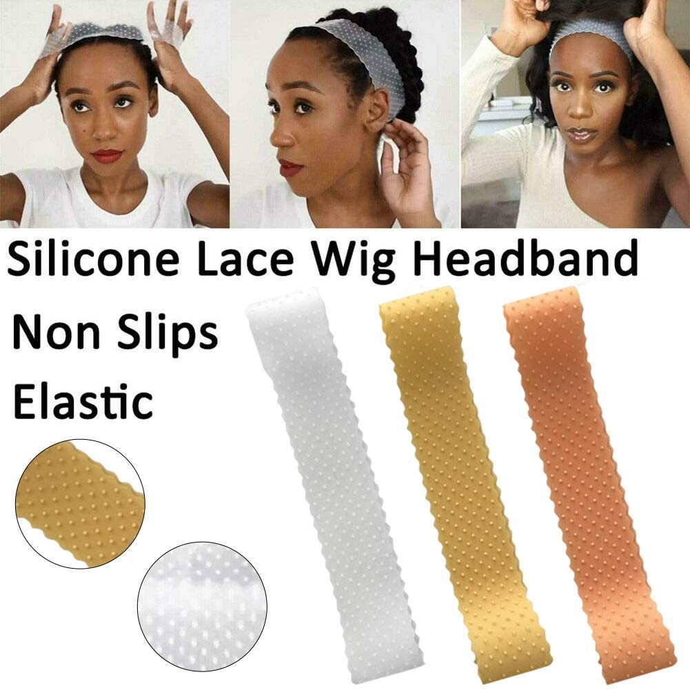 xlpace Sports Headband ,Non-Slip Women Silicone Wig Grip Band Hair Scarf Adjustable Sport Headband for Yoga/Pilates/Dancing/Running/Cycling/Fitness Exercise/Travel