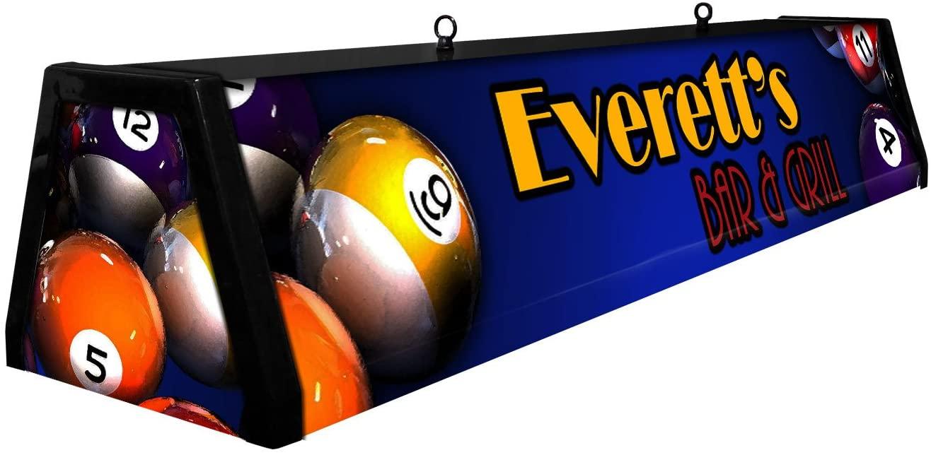 44 Personalized Acrylic Pool Table Light, Custom Classic