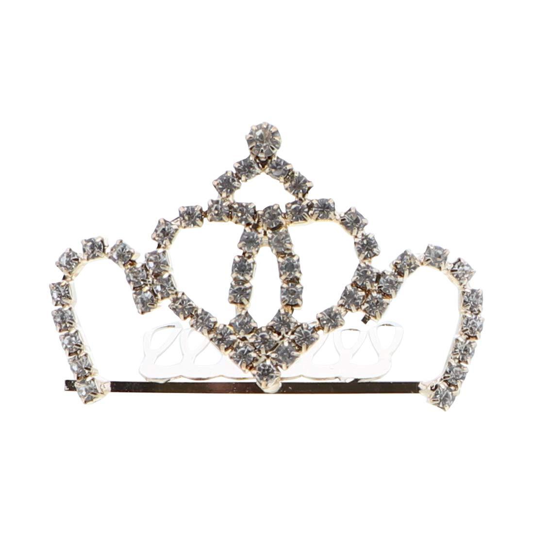 Flower Girl Bridesmaid Bridal Princess Tiara Comb - Elegant Gold