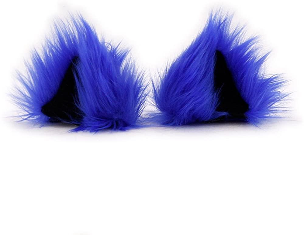 Pawstar Clip in Furry Kitty Mew Ears Hair Clips On