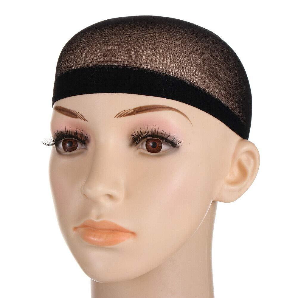 Beauty Breathable Elastic Multicolor Nylon Liner Unisex Hair Net Wig Cap   Color - black