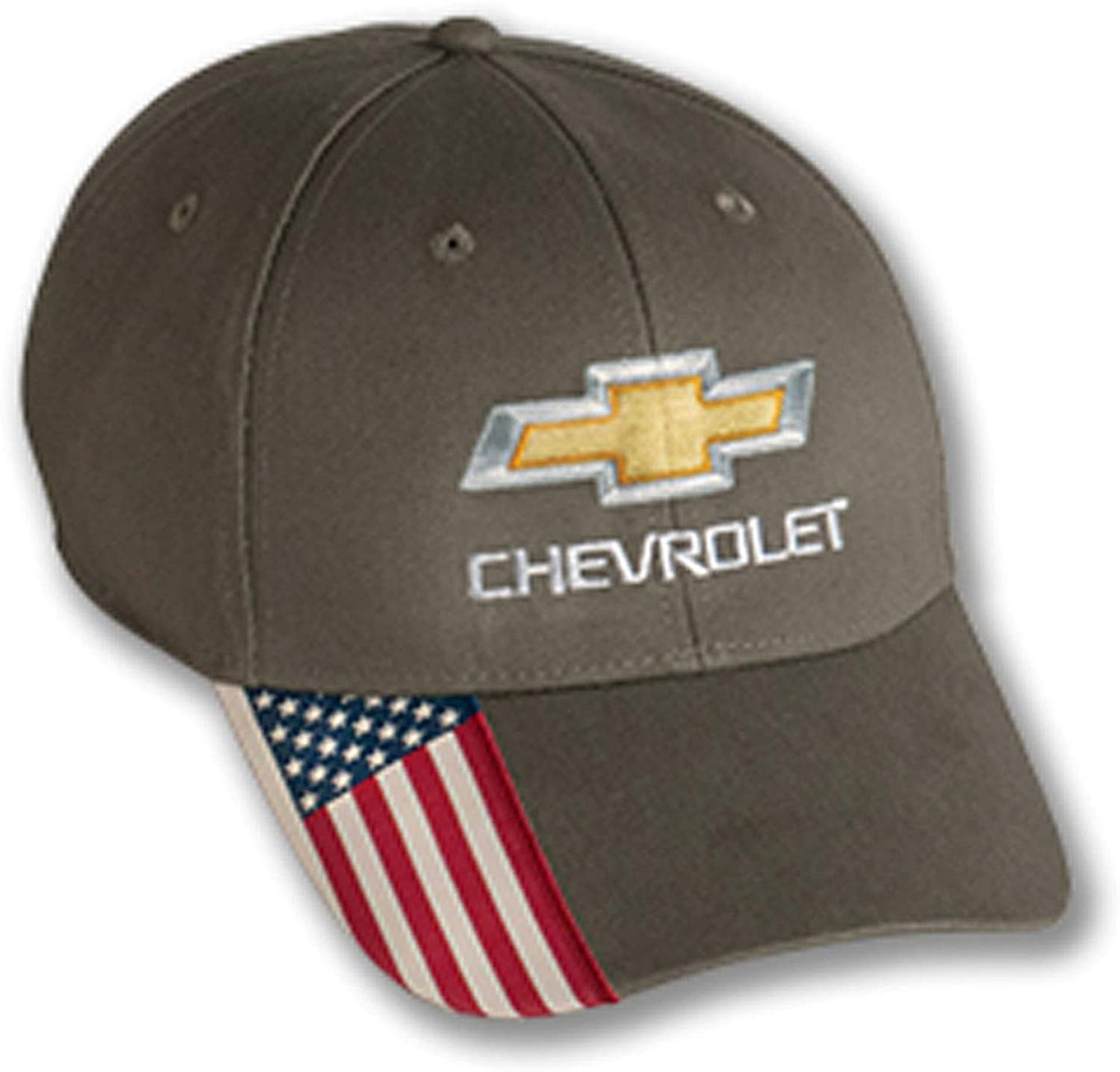 Gregs Automotive Bowtie USA Flag Hat Cap Olive Compatible with Chevrolet Chevy - Bundle with Driving Style Decal