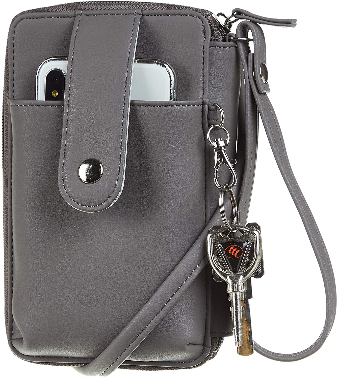 Sodsay Leather RFID Womens Crossbody Cell Phone Purse Credit Card Holder Wallet