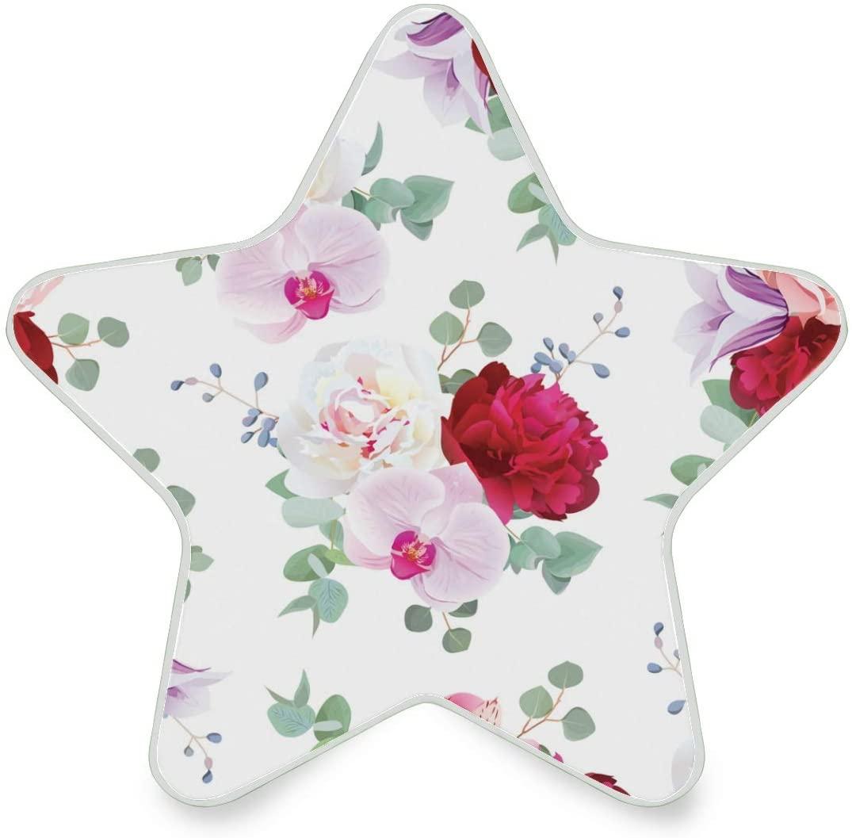 LED Night Light Star Shape Beautiful Flower Ultra-Slim, and Cool-Touch Dusk to Dawn Sensor Night Lamp Kids Adults and Nursery Decor Night Light