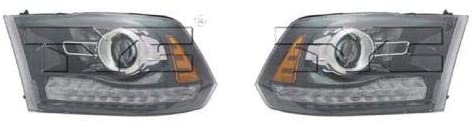 Go-Parts - PAIR/SET - for 2013 - 2014 Ram 1500 Front Headlights Assembly Front Housing / Lens / Cover - Left & Right (Driver & Passenger) Side - (Sport) CH2503245 CH2502245 68093220AD 68093221AD