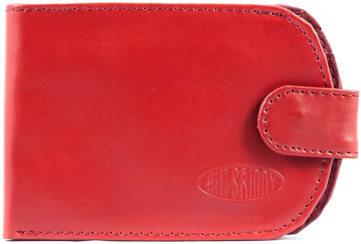 Big Skinny Women's Taxicat Leather Bi-Fold Slim Wallet, Holds Up to 25 Cards