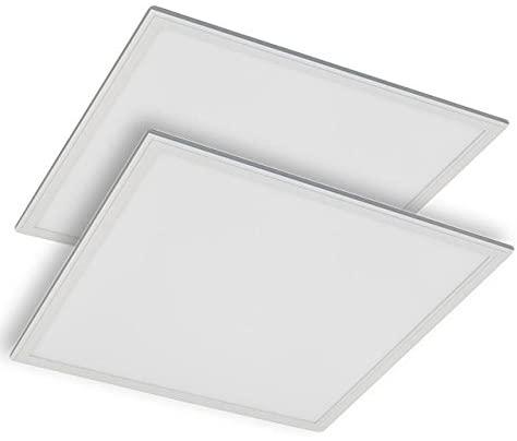 LEDwholesalers 2x2-ft 45-Watt Edge-Lit Glare-Free LED Panel Light with 0-10V Dimming ETL and DLC-Listed (2-Pack), Daylight 5000K, 2115WHx2