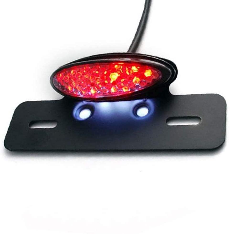 Motorcycle Tailight, Maso LED License Plate Braking Signal Lighting for Bike KT-M Scooter