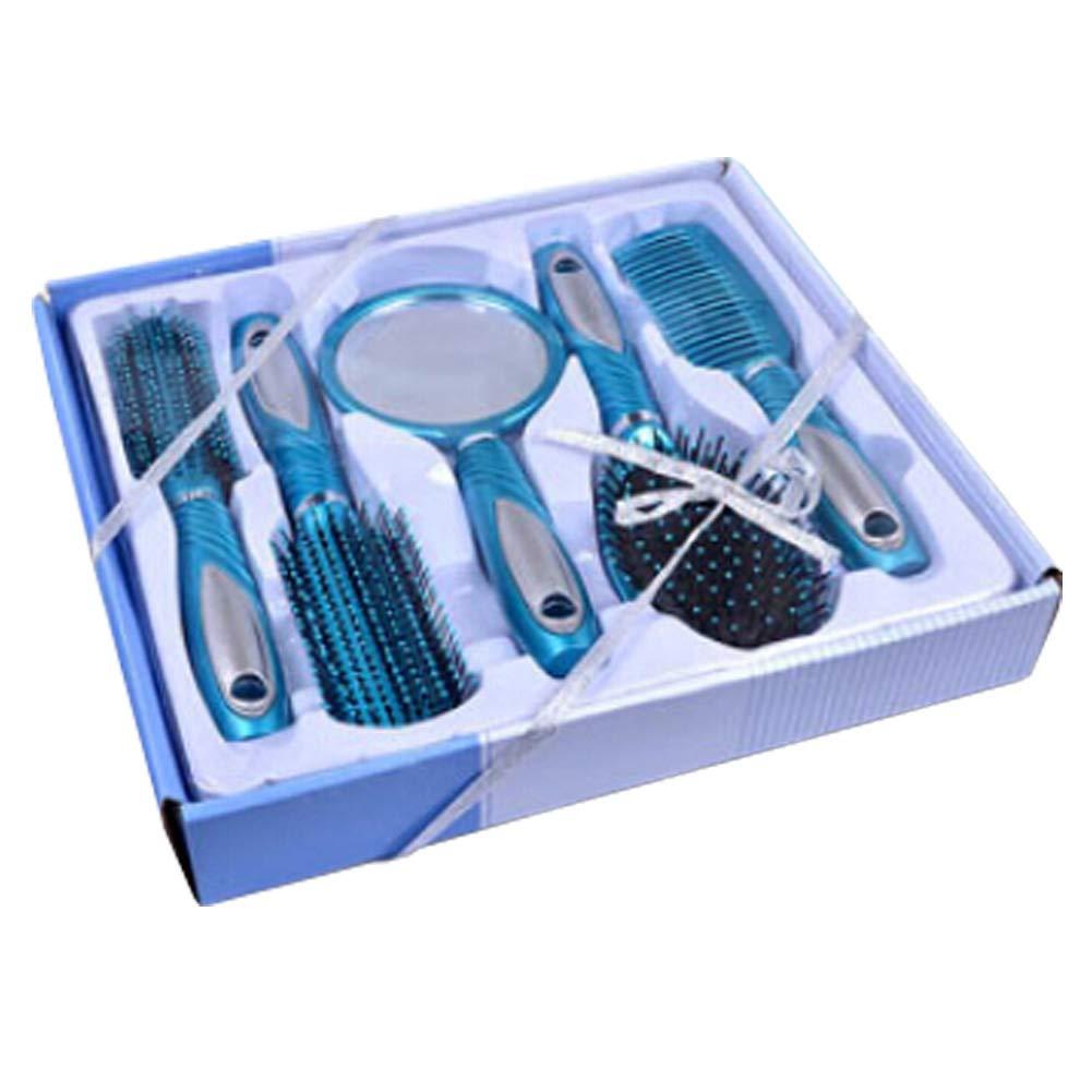 Premium Durable Hair Comb Afro Pick Anti-static Combs Anti-Static,5 PCS,Blue