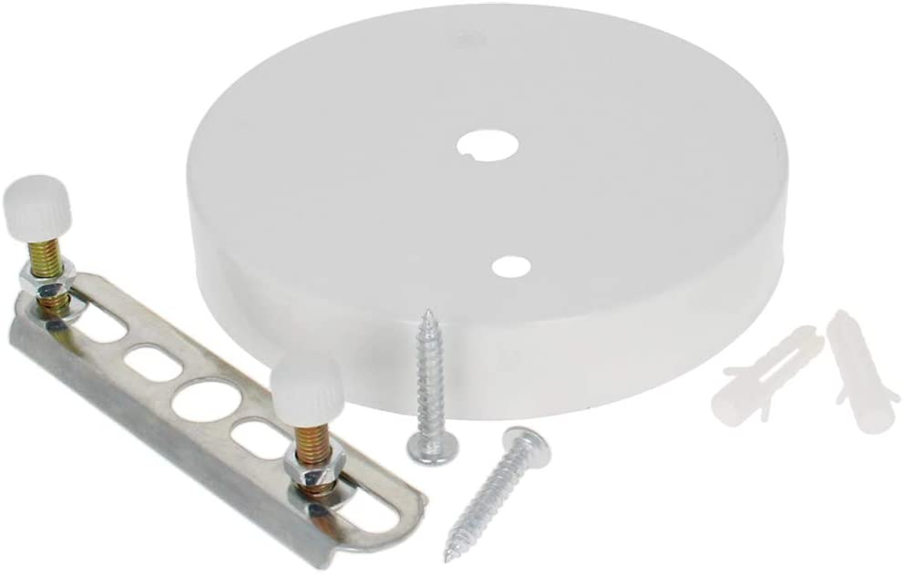 Othmro Ceiling Light Plate Kit Chassis Base White 100mm x 20mm Pendant Accessories for DIY Pendant Lighting 1 Piece