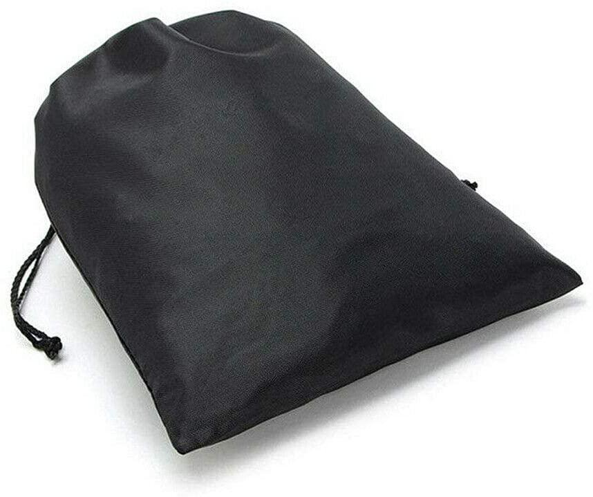 US 12PCS Boot Shoe Toy Storage Drawstring Bag Travel Organizer Large Dust-proof (Black - 45x57cm/17,71x22,44in)
