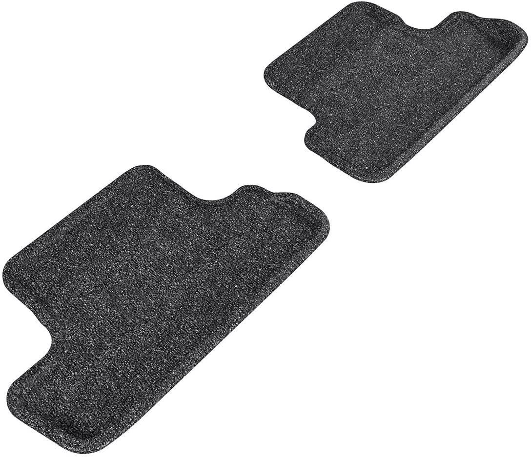 3D MAXpider Carpet Floor Mats for Audi TT/TTS 2008-2015 Custom Fit Car Floor Liners, Classic Series (2nd Row, Gray)