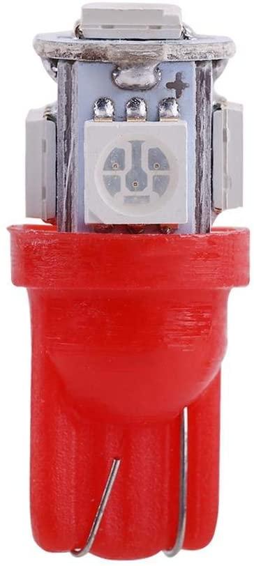 LED Car Doorstop Light,20 pcs Flashing 12V T10 5050 5 SMD LED Car Doorstop Light Bulbs Super Bright Lamp.(Red)