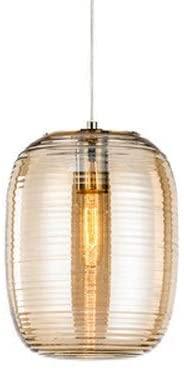 Postmodern Creative Glass Chandelier Lighting Personality Dining Table Metal Ceiling Pendant Lamp Bedroom Hight Adjustable Suspension Lantern Cafe Bar Restaurant Droplight E27 Edison (Brown)