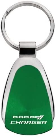 Au-TOMOTIVE GOLD Compatible Keychain and Keyring for Dodge Charger [KCGR.CHG] - Green Teardrop