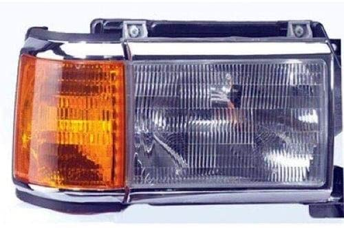 Go-Parts - for 1987 - 1991 Ford Bronco Front Headlight Assembly Housing / Lens / Cover - Right (Passenger) Side E9TZ 13008 E FO2503105 Replacement 1988 1989 1990