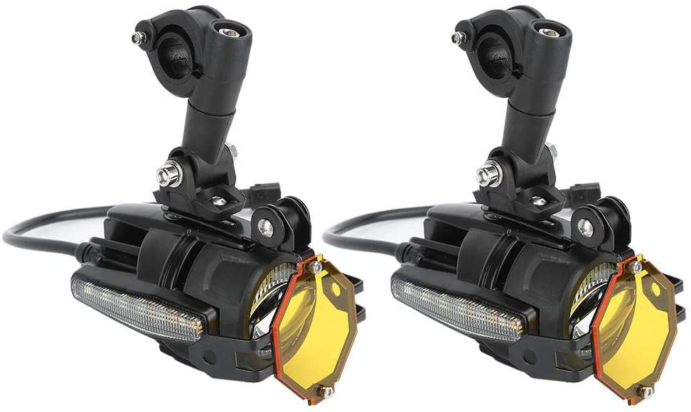 Motorcycle Driving Lamp,6000K Universal LED Fog Lights with Dynamic Turn Signal Bulb (1 Pair)