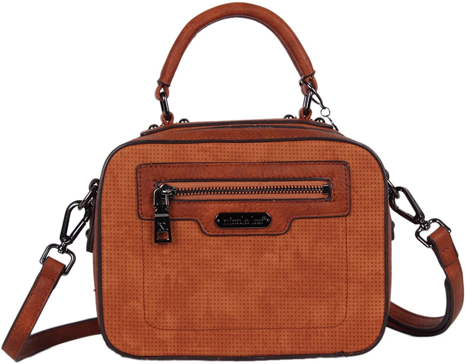 Crossbody Bag with Front Zip Pocket and Adjustable/Detachable Shoulder Strap by Nicole Lee