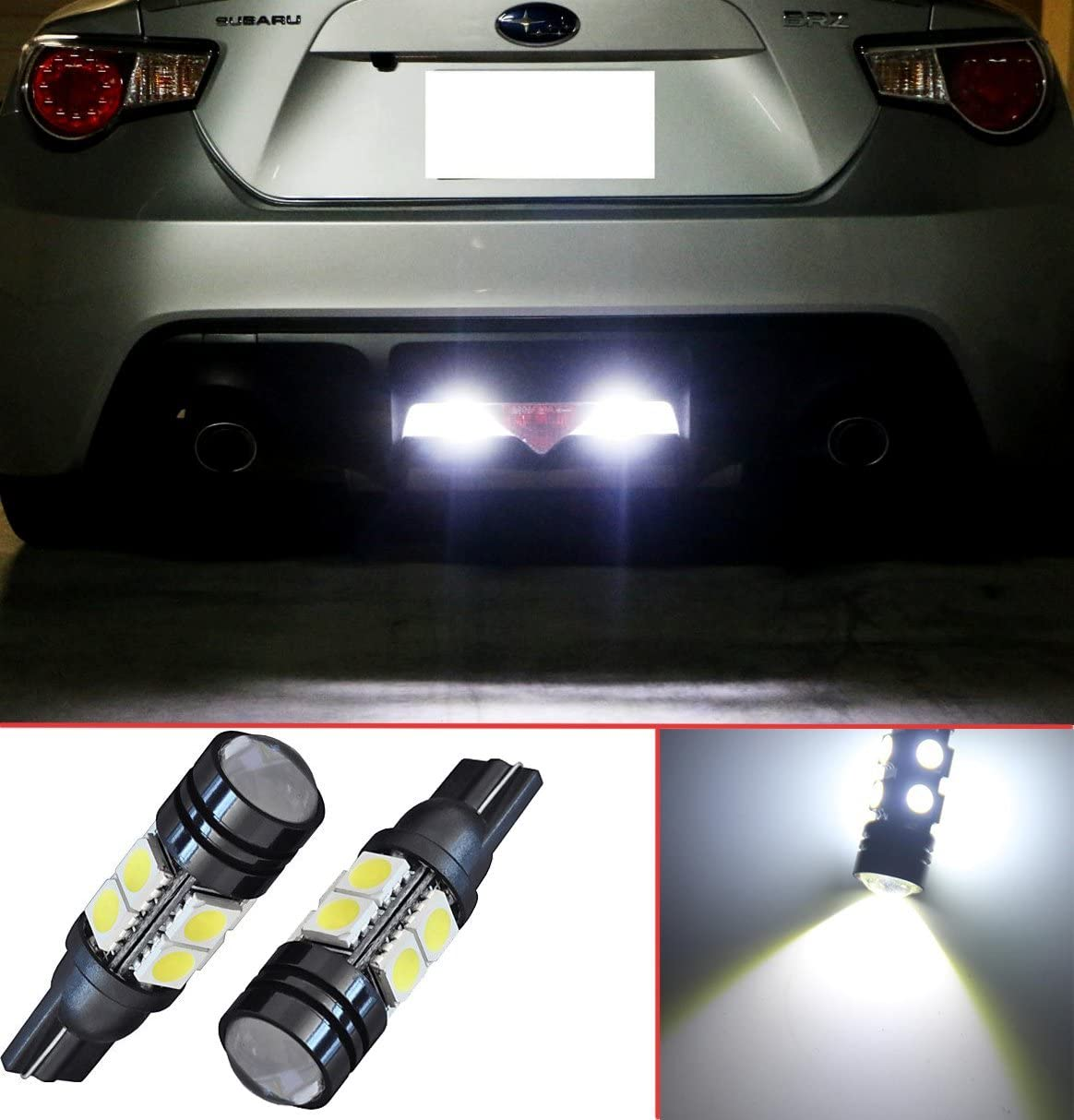 LED Lights for Lexus GX-460 Xenon White LED T15 912 921 906 Projector LED Reverse Light Bulbs (2 pieces)