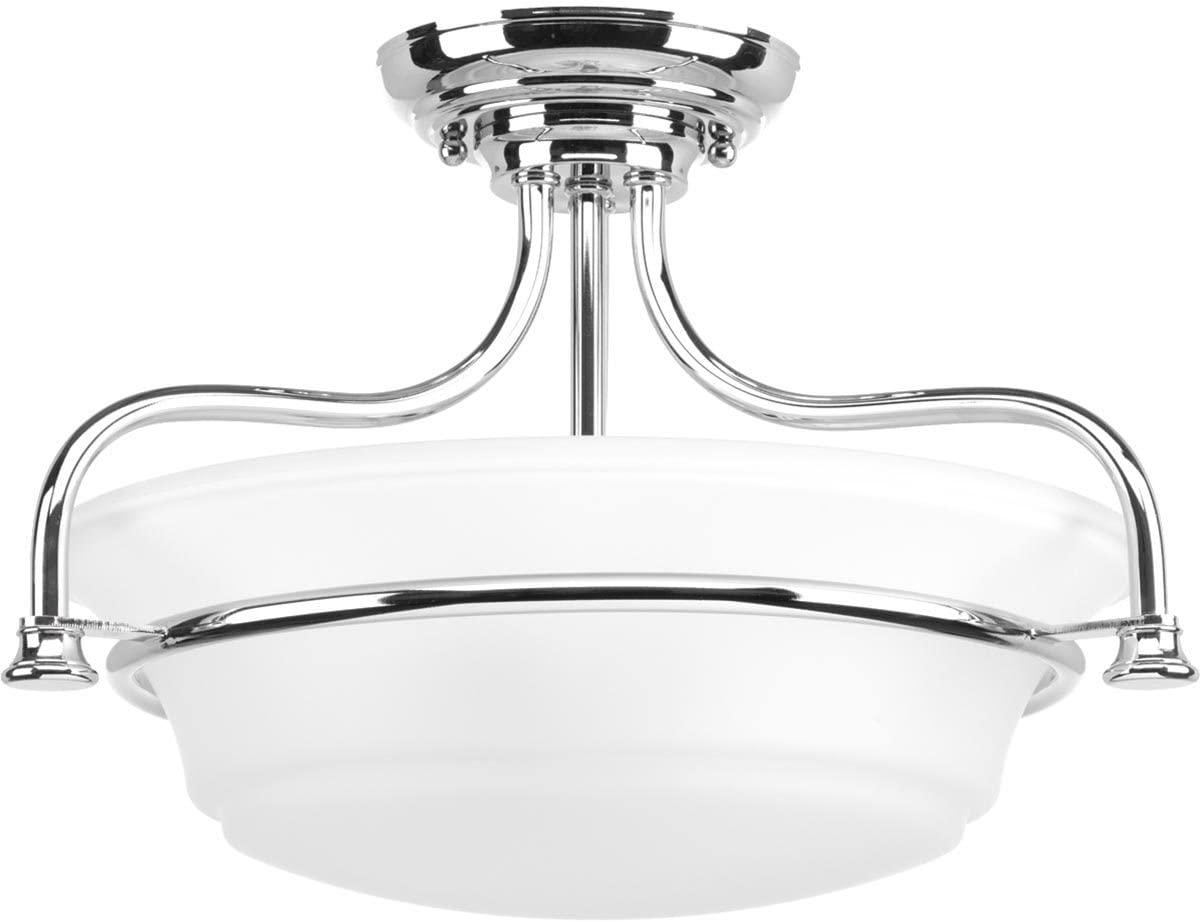 Progress Lighting P350079-015 Tinsley Semi-Flush/Convertible, Polished Chrome