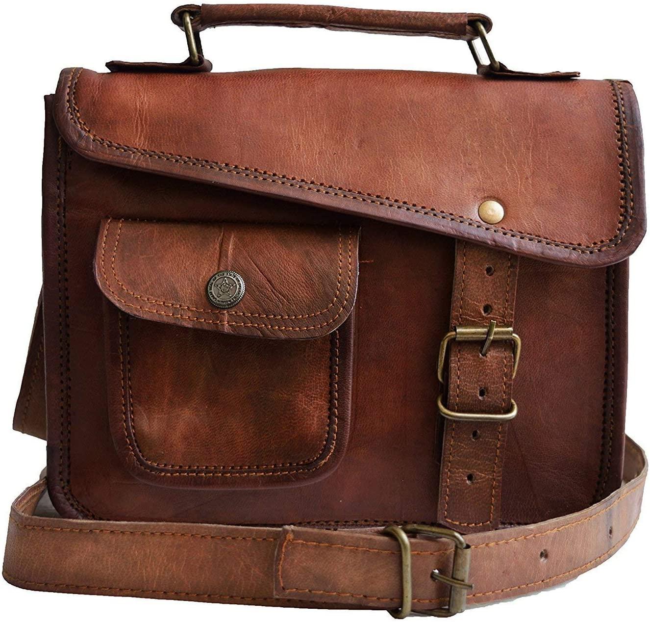 Stellar Styles Genuine Leather Messenger laptop school purse shoulder vintage cross body bag