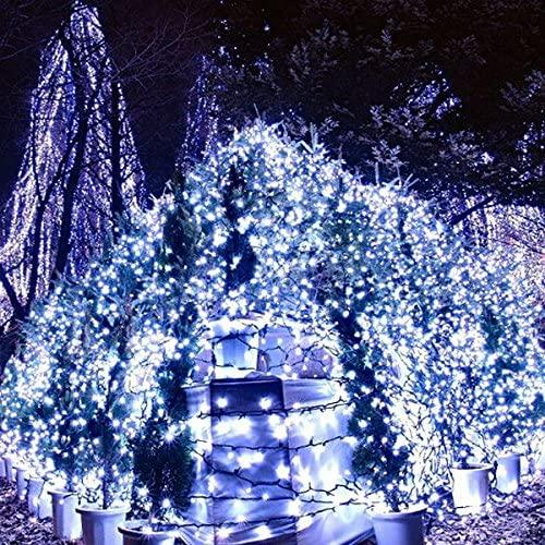 10M 80-LEDs 3-Mode Battery Powered LED String Lights LED Strip Lights Lamps for Christmas/Wedding/Party (White Light)