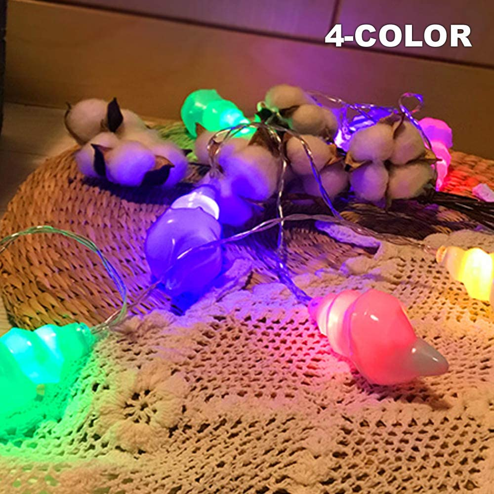 Battery Powered Fairy String Lights-Conch Type 10LED (4color) String Lights for Christmas, Home, Garden, Wedding, Party, Room, Holiday Decor, Centerpiece, Xmas Tree Decorations