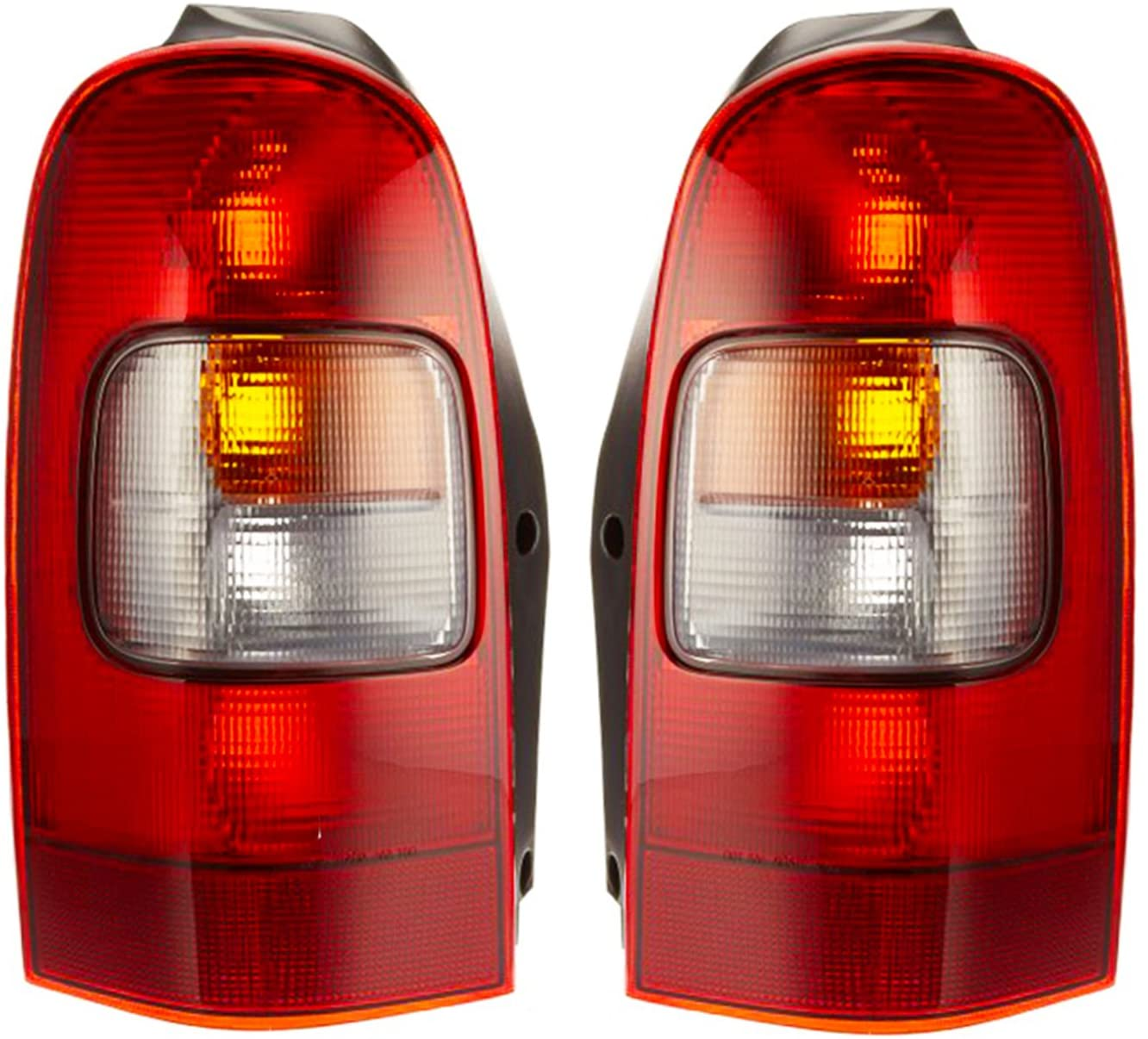 Rareelectrical NEW PAIR OF TAIL LIGHTS COMPATIBLE WITH CHEVROLET VENTURE 1997-2005 GM2801134 GM2800134 19206745 19206746